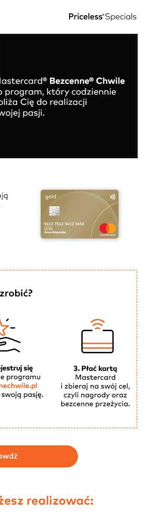 Realizuj pasje z Mastercard
